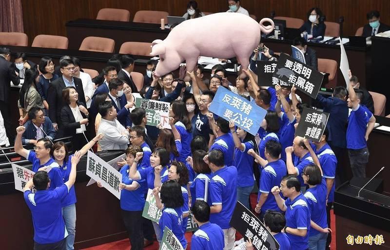 中國黨的「萊豬戰」與「台美復交」議題